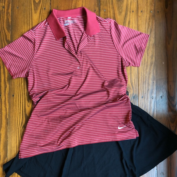 60003fff Nike Tops | Womens Tech Drifit Stripe Golf Shirt | Poshmark